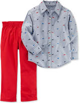 Carter's 2-Pc. Cotton Shirt & Pants Set, Toddler Boys