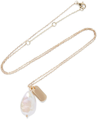 Iris & Ink Leanne 18-karat Gold-plated Freshwater Pearl Necklace