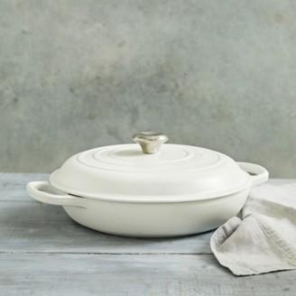 The White Company Le Creuset Shallow Casserole Dish - 30cm, White, One Size