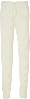 Madeleine Thompson Oceanus Waffle-Knit Cashmere Track Pants