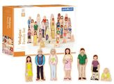Guidecraft GuidecraftTM Wedgies 28-Piece Multi-Cultural Family Set
