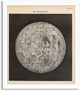 New Era Publishing Vintage Map of the Moon