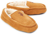 U.S. Polo Assn. Tan & Brown Logo Slipper