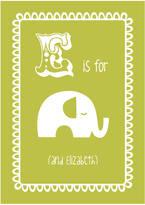 Hullaballoo Personalised Child's Elephant Artwork