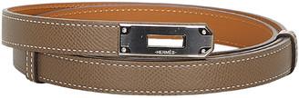 Hermes Brown Epsom Leather Kelly Belt