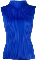 Pleats Please Issey Miyake micro-pleated high-neck top