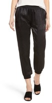 David Lerner Women's Satin Track Pants