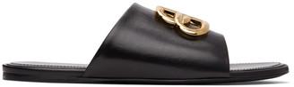 Balenciaga Black Oval BB Sandals