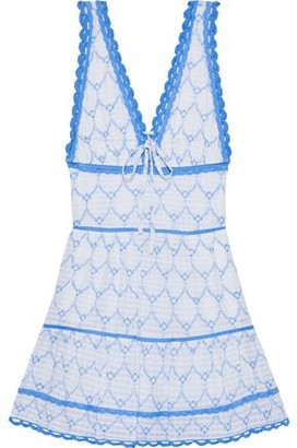 Jonathan Simkhai Bow-detailed Broderie Anglaise Cotton-jacquard Mini Dress
