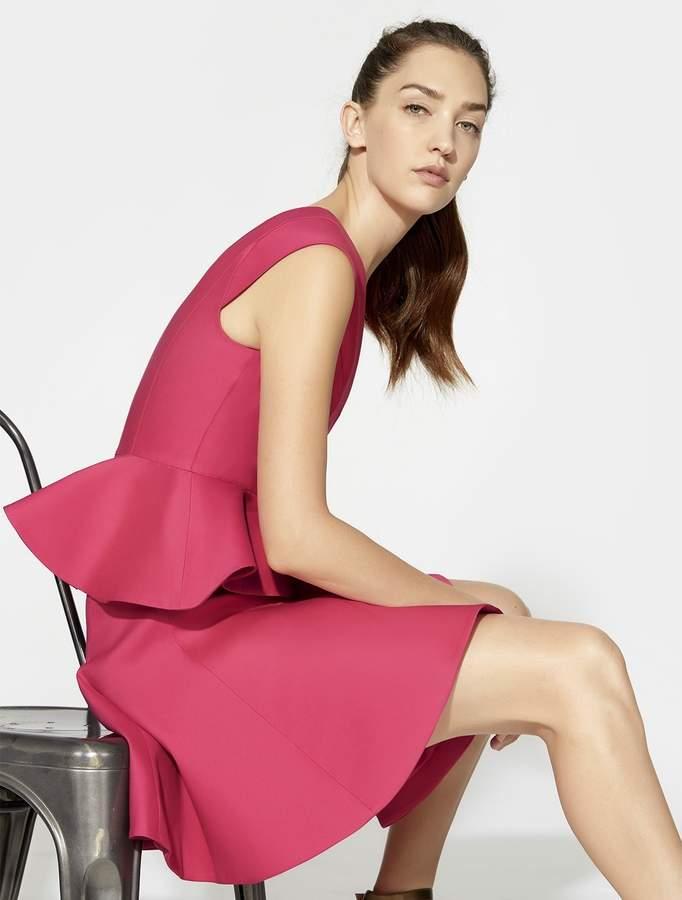 Halston Cap Sleeve Peplum Dress