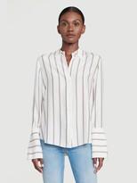 Frame Silk Long Cuff PJ Blouse