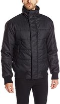 DKNY Men's Herringbone Printed Puffer Jacket