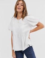 Asos Design DESIGN linen smock top