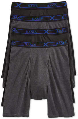 Hanes Men 4 Pack Long-leg X-Temp Performance Boxer Briefs