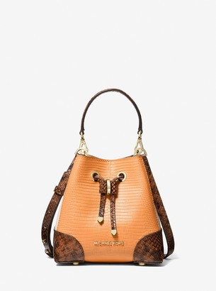 MICHAEL Michael Kors Mercer Gallery Extra-Small Color-Block Embossed Leather Crossbody Bag
