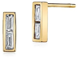 Anita Ko 18K Yellow Gold & Diamond Baguette Stud Earrings