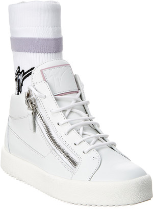Giuseppe Zanotti Frankie Plus Leather High-Top Sneaker