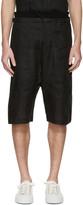 Isabel Benenato Black Linen Shorts