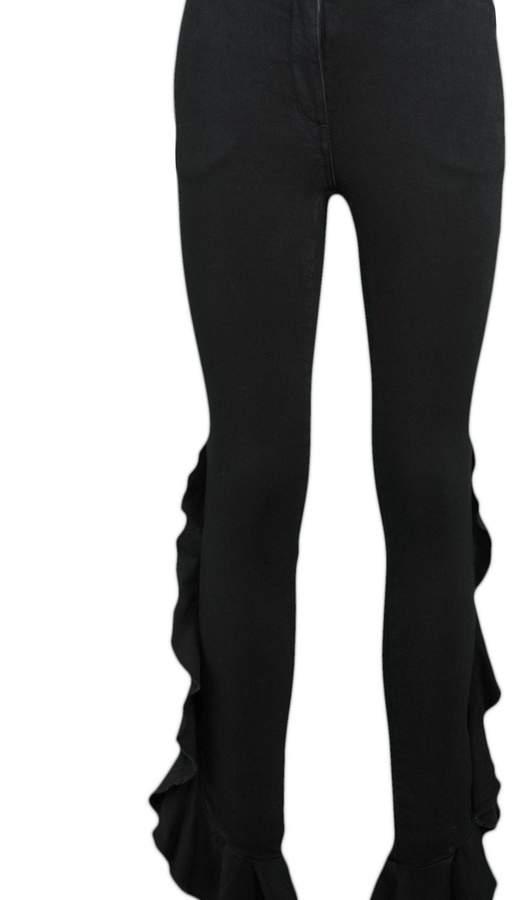 Giamba Side Ruffle Jeans