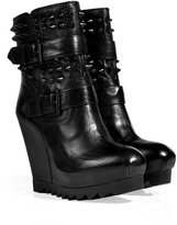 Ash Leather Genesis Bis Ankle Boots in Black