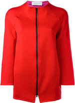 Gianluca Capannolo zipped jacket - women - Nylon/Polyester/Acetate/Viscose - 40