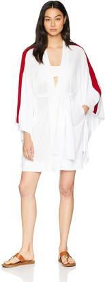 Norma Kamali Women's Side Stripe Robe Jacket
