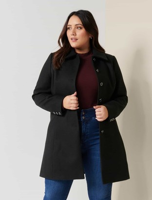 Forever New Emily Curve Dolly Coat - Black - 16