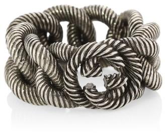 Gucci Interlocking Sterling Silver Ring