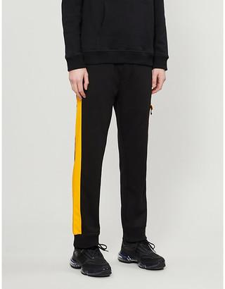 HUGO Side-stripe relaxed-fit cotton-blend jogging bottoms