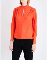Maje Lange shoulder-padded woven top