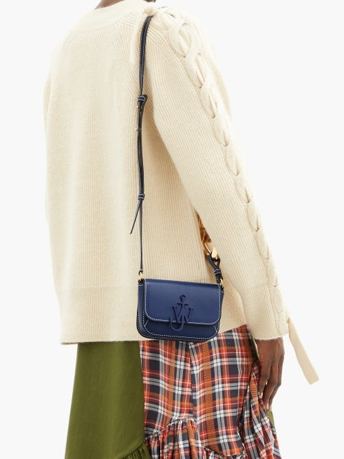 Thumbnail for your product : J.W.Anderson Anchor Nano Chain-strap Leather Cross-body Bag - Navy