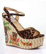 Leopard & Tiki Keke Wedges Shoes