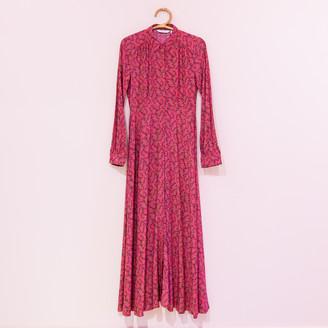Nümph Floral Printed Long Dress - fuchsia | 38 - Fuchsia
