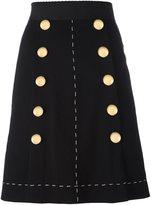 Dolce & Gabbana A-line buttoned skirt - women - Silk/Spandex/Elastane/Virgin Wool - 40