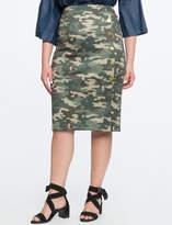 ELOQUII Button Detail Pencil Skirt