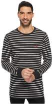 U.S. Polo Assn. Long Sleeve Striped Crew Neck Thermal Pullover