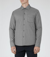 Reiss Reiss Sidney - Button Shacket In Grey