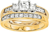 MODERN BRIDE 1 3/4 CT. T.W. Diamond 14K Two-Tone Bridal Set
