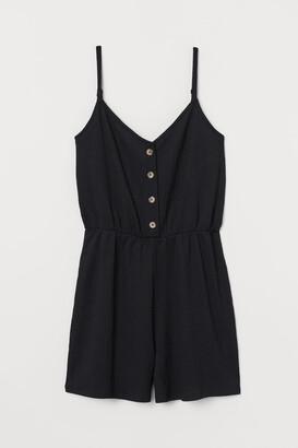 H&M Jersey Romper - Black