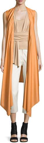 Maison Margiela Sleeveless Wool-Blend Wrap Vest, Sunset