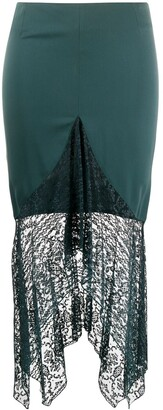 Romeo Gigli Pre-Owned 1990s Lace Trim Skirt