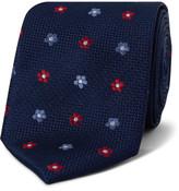 Van Heusen Spaced Textured Floral Tie