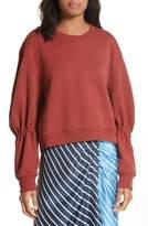 Tibi Women's Sculpted Sleeve Sweatshirt