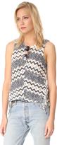 Ella Moss Alexandria Fringe Knit Top