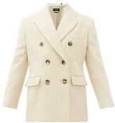 Isabel Marant Hermina Double-breasted Peak-lapel Wool Blazer - Womens - Cream
