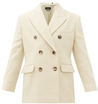 Isabel Marant Hermina Double-breasted Peak-lapel Wool Blazer - Cream