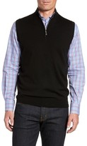 Peter Millar Men's Crown Soft Merino Blend Quarter Zip Vest