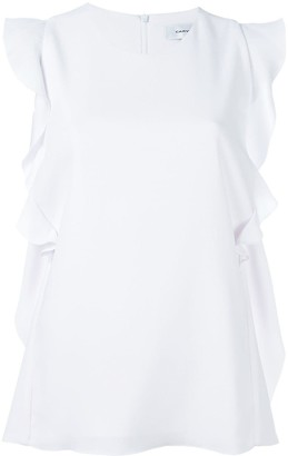 Carven Ruffle-Trim Sleeveless Blouse