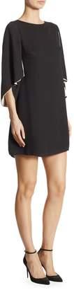 Halston Cape Sleeve Shift Dress