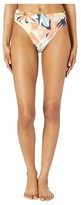 Roxy Swim the Sea Hi-Leg Mid-Waist Bottoms (Peach Blush Bright Skies) Women's Swimwear
